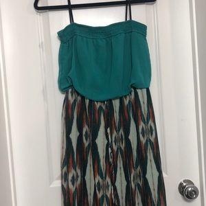 Jodi Kristopher Sleeveless Maxi Dress Patterned